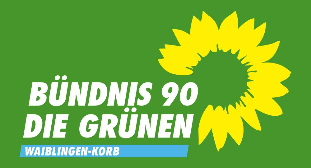 Logo BÜNDNIS 90/DIE GRÜNEN Waiblingen-Korb